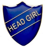 ShieldBadge Head Girl Blue</br>SB018B